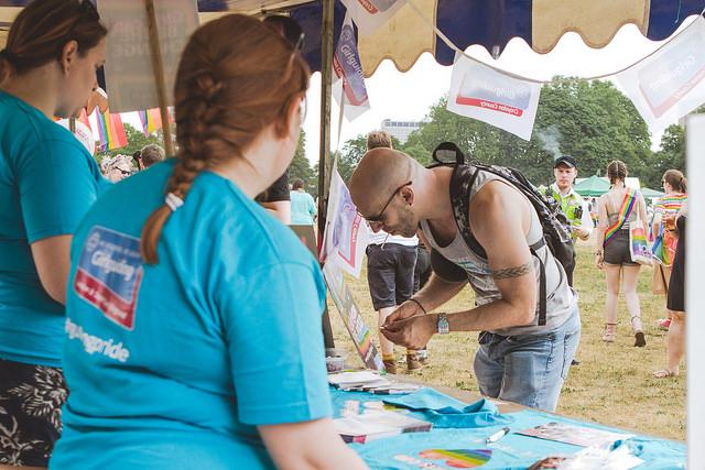 PrideFest 2018 stalls
