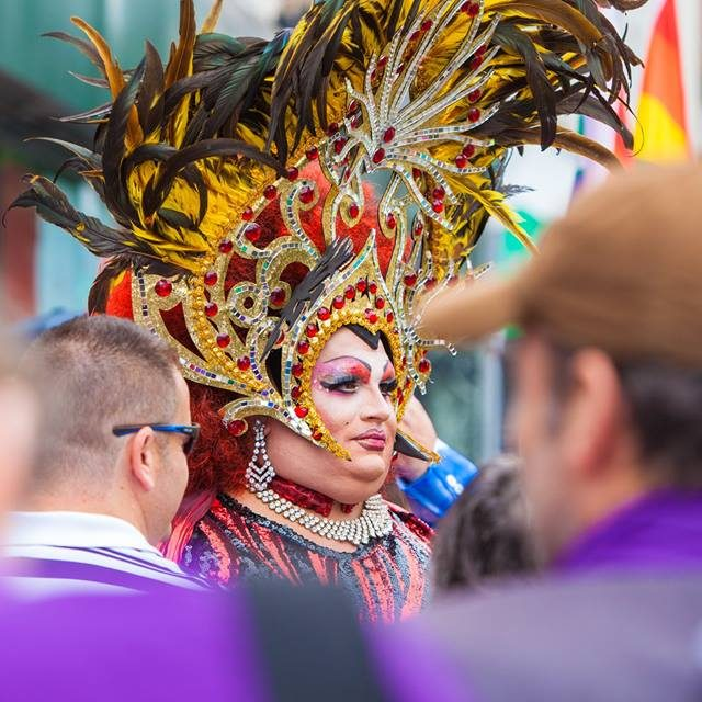 Croydon Pride 2017 - drag queen in Queens Gardens