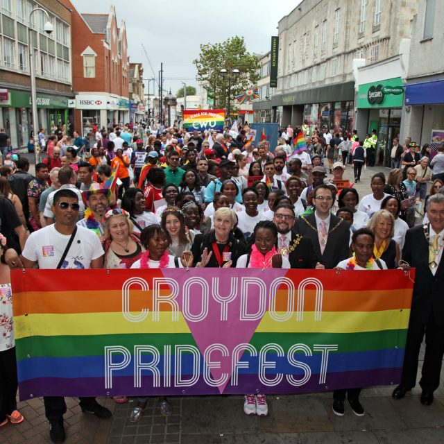 The start of Croydon PrideFest 2016